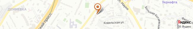 Автошкола Автомат на карте, г. Киев, ул. Голосеевская, 7