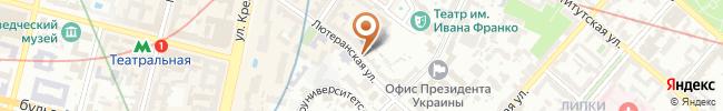 Автошкола Городской учебно-методический центр на карте, г. Киев, ул. Лютеранская, 17