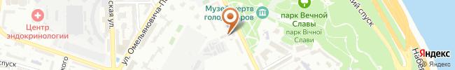 Автошкола Алмаз на карте, г.Киев, ул.Лаврская, 6