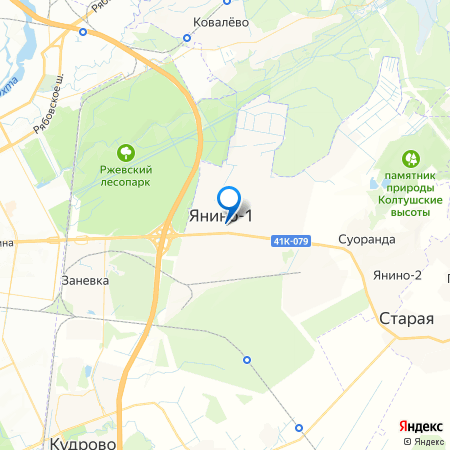 Янинский каскад-2 на карте
