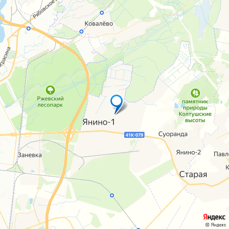 ЦДС Новое Янино на карте