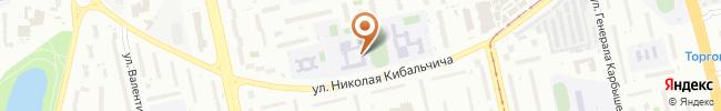 Автошкола Бахмацкого на карте, г. Киев, ул. Кибальчича, 5