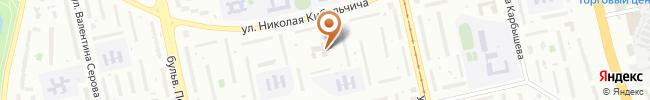 Автошкола Винол на карте, г. Киев, ул. Кибальчича, 12-А