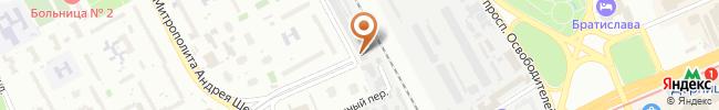 Киевский городской союз автомобилистов на карте, г. Киев, ул. Челябинская, 2
