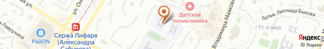 Автошкола Славия на карте, г. Киев, ул. А. Сабурова, 16а