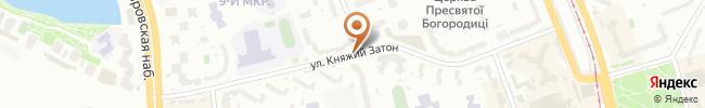 Автошкола Сигнал на карте, г. Киев, ул. Княжий Затон 7А, СШ №314