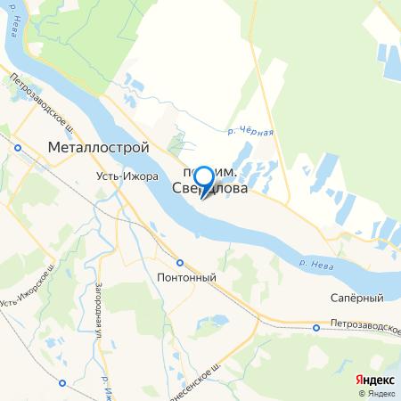 Невский берег на карте