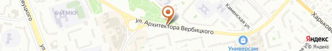 Автошкола Сигнал на карте, г. Киев, ул. Вербицкого 14Г, СШ №266