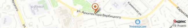 Автошкола Мастер на карте, г. Киев, ул. Вербицкого 7-а, гимназия № 267