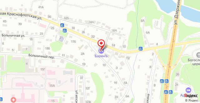 Отель Баринъ на карте