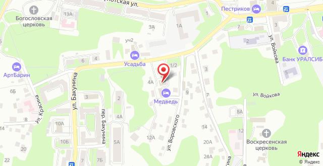Отель Медведь на карте