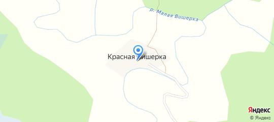 Карта деревни Красная Вишерка в Новгородской области подробная с улицами