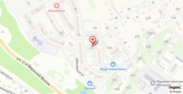 Апартаменты На Юбилейной на карте