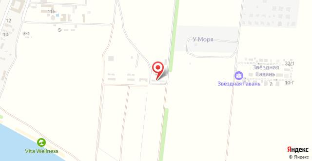 Отель Бирюза на карте