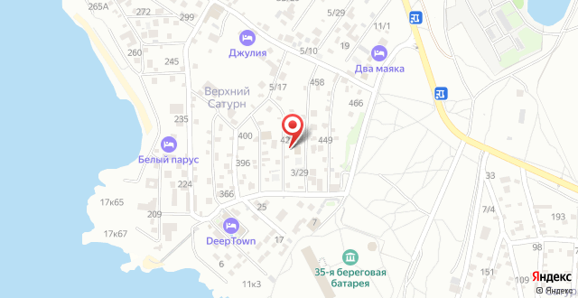 Гостевой дом Яни на карте