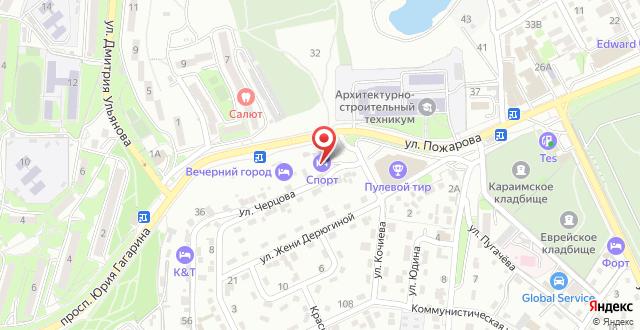 Гостиница Спорт на карте