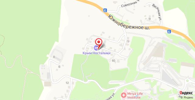 Гостевой дом Крым. Ностальжи на карте
