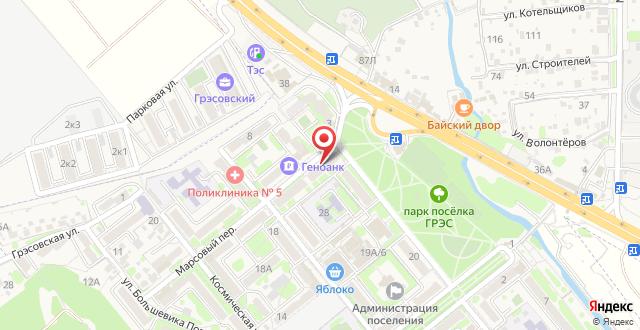 ТЭС-отель на карте