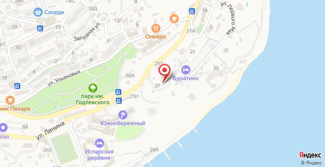 Мини-отель Перелетные птицы на карте