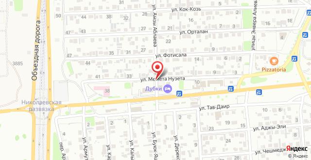 Отель Дубки на карте