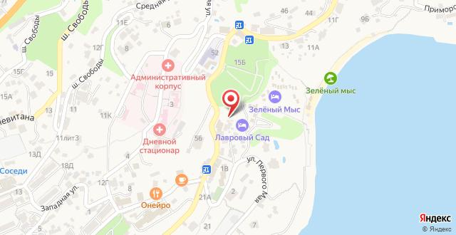 Гостиница Зеленый мыс на карте
