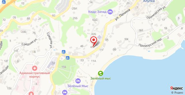 Частная гостиница Кипарисовый рай на карте