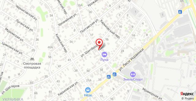 Мини-отель Луна на карте