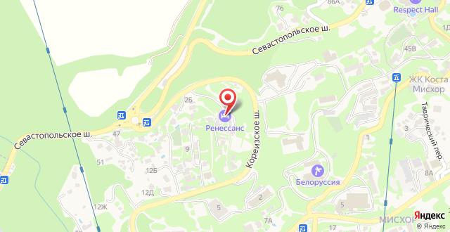 Отель Ренессанс на карте
