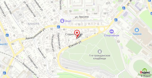 Мини-гостиница На Южной на карте