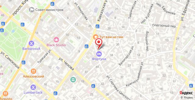 Гостиница Фортуна на карте