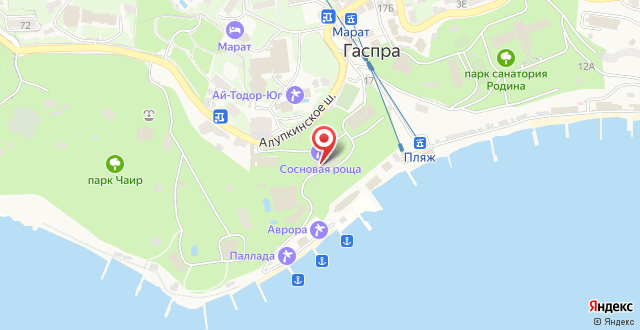 Санаторий Сосновая роща на карте