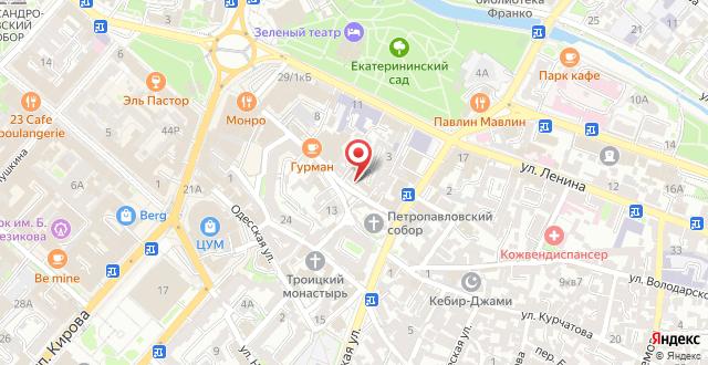 Гостиница Таврическая на карте