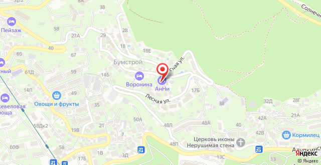 Отель Анни на карте
