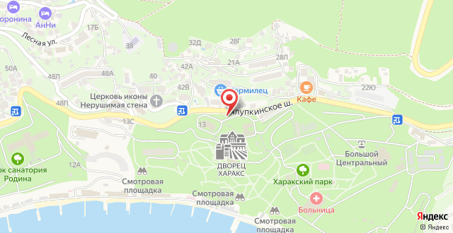 Санаторий Жемчужина на карте