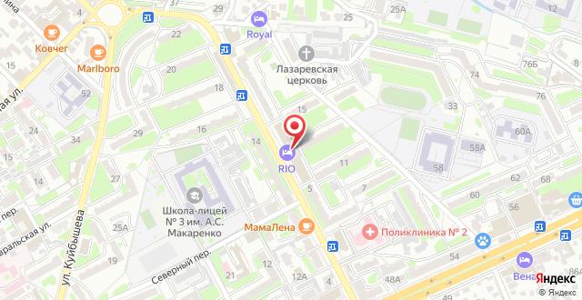 Отель Рио на карте