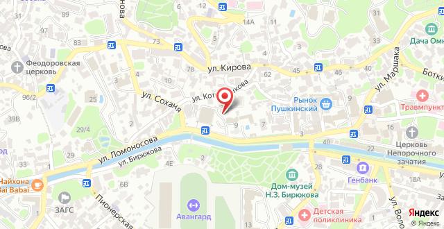 Гостиница Спарта на карте