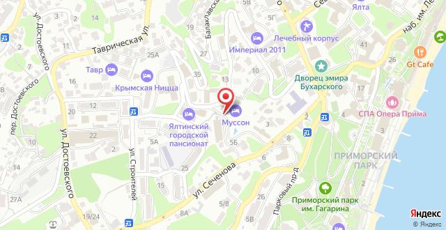 Отель Муссон на карте