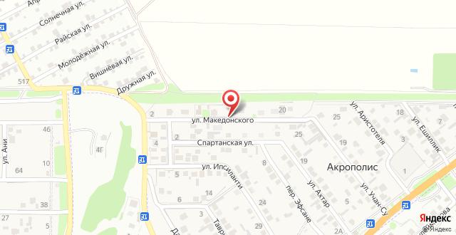 Гостиница На Македонского на карте