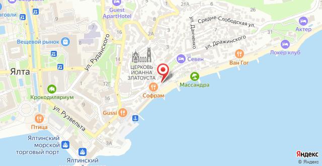 Отель Коралл на карте