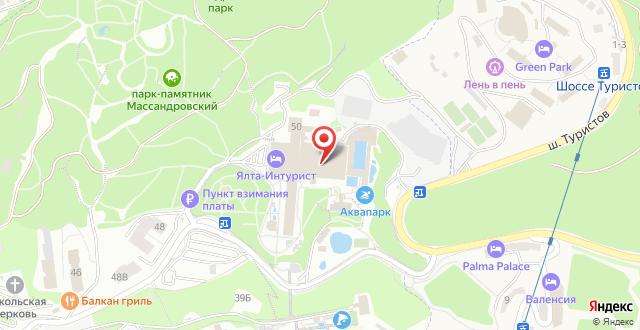 Отель Green Park Yalta-Intourist на карте