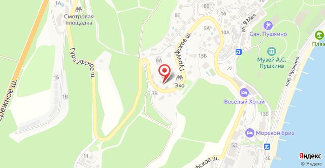 Гостиница Гурзуфские зори на карте