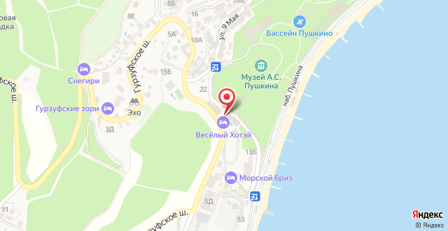 Отель Веселый Хотэй на карте