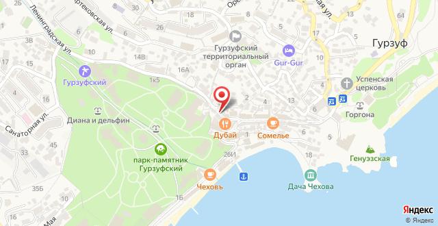Отель Gurzuf Sunrise на карте