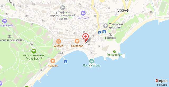 Апарт-отель Бухта Чехова на карте