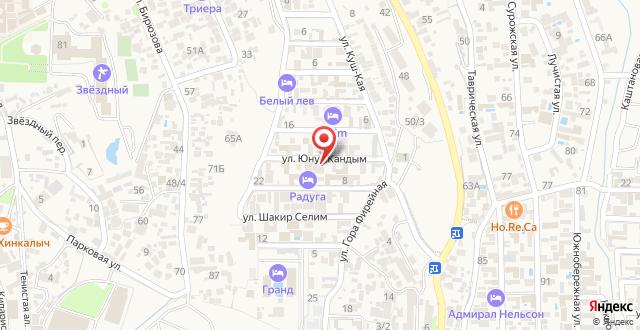 Отель Солнечная Сугдея на карте