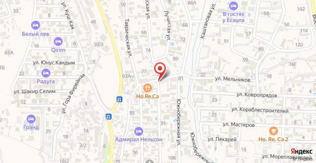 Мини-гостиница Крым Енот на карте