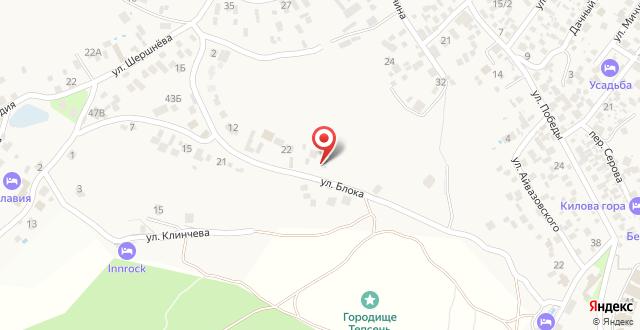 Гостевой дом Тепсень на карте