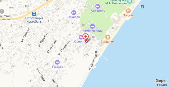 Гостевой дом Фаворит на карте