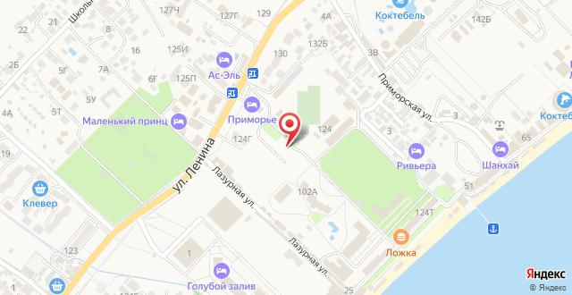 Туристско-оздоровительный комплекс Приморье на карте