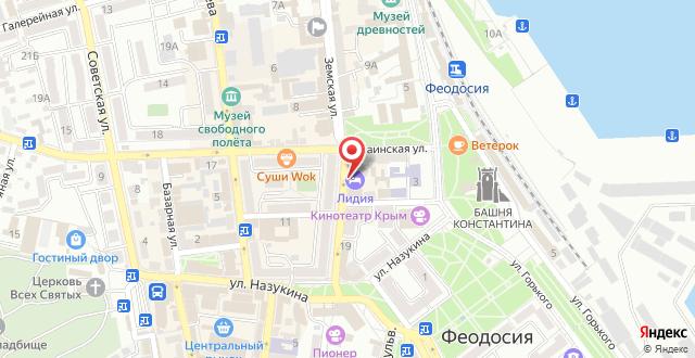 Гостиница Лидия на карте